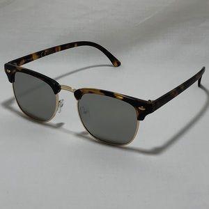 c0013e606 Other - Tortoise Gold Silver Mirror Browline Sunglasses
